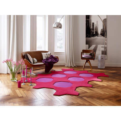 Valise de 18 dalles de tapis à courtes mèches Octagon Vorwerk