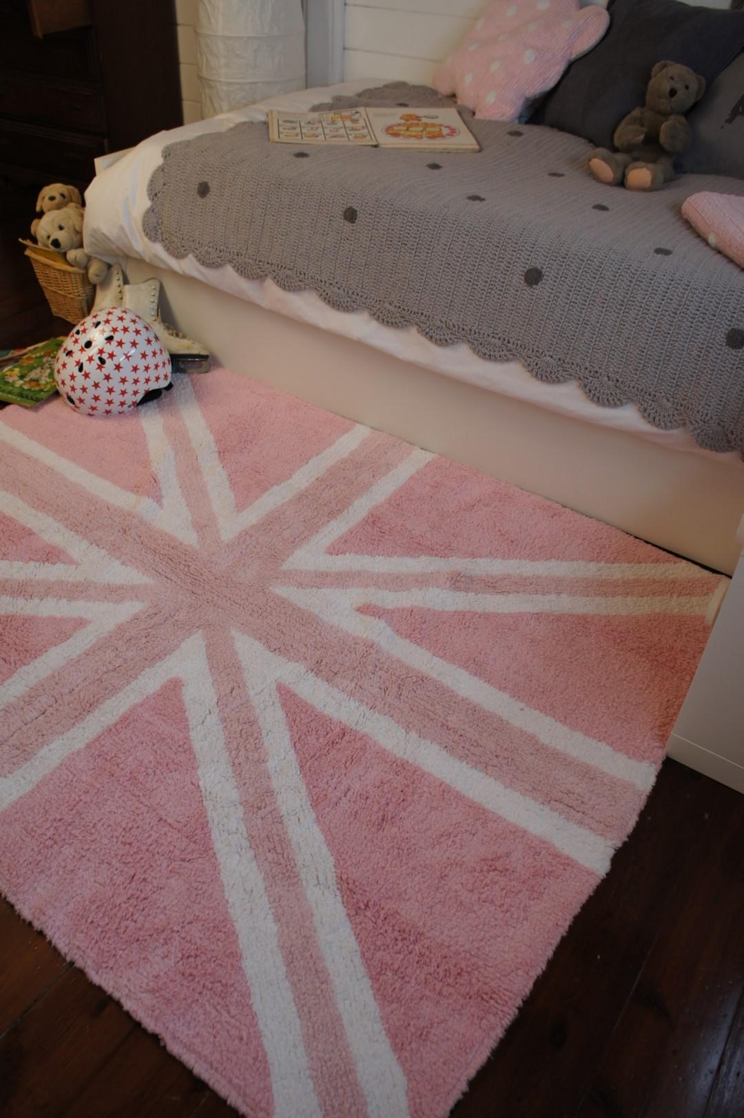 Tapis lavable en machine drapeau anglais fuschia Flag Classic Lorena Canals