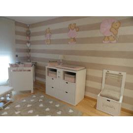 Tapis beige pour chambre de fille Heart Lorena Canals