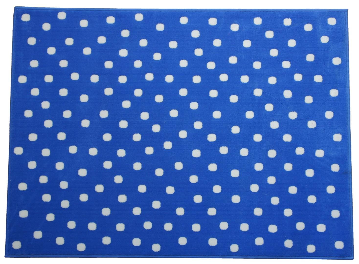 Tapis bleu marine pour chambre d'enfant Dots Lorena Canals