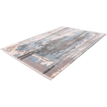 Tapis en acrylique avec franges design rectangle Trocadero