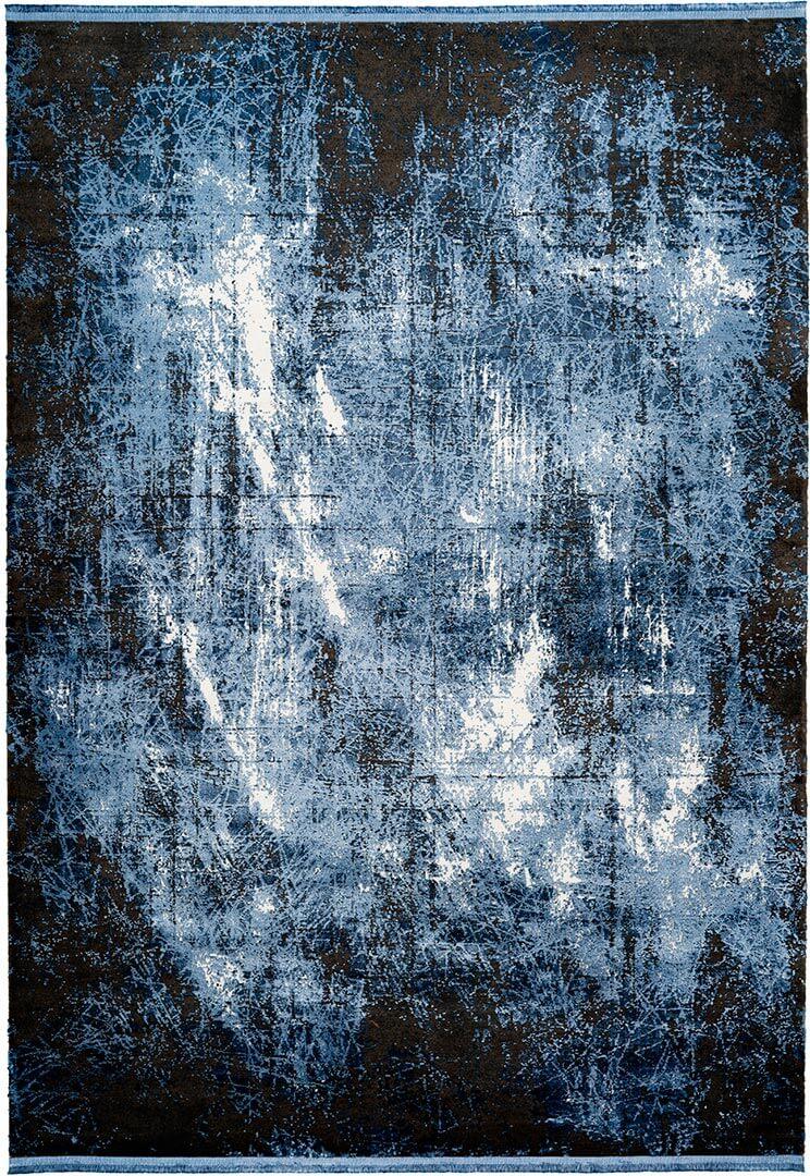 Tapis de salon avec franges rayé rectangle vintage Elysée