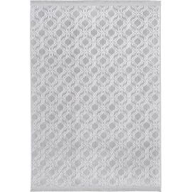 Tapis baroque avec franges lavable en machine Real