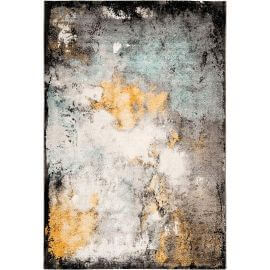 Tapis multicolore vintage rectangle rayé Conde