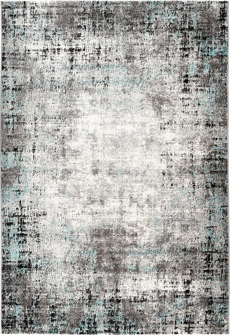 Tapis rayé vintage rectangle pour salon Delgada