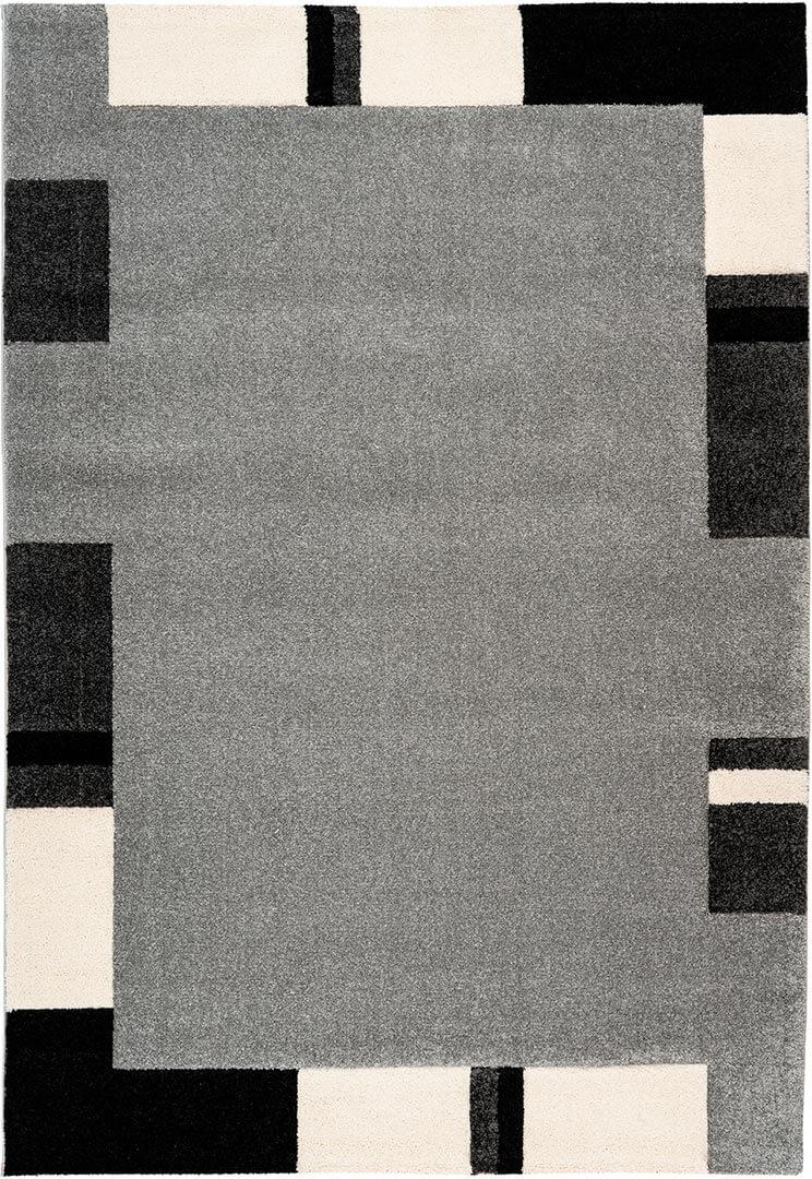 Tapis contemporain à mèches courtes rectangle Skanor