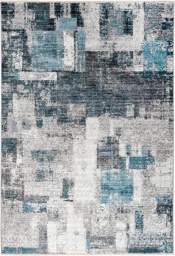 Tapis moderne avec franges rayé intérieur Trelleborg