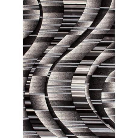 Tapis moderne brillant argenté Aucta