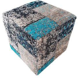 Pouf carré patchwork effet vintage Pacino