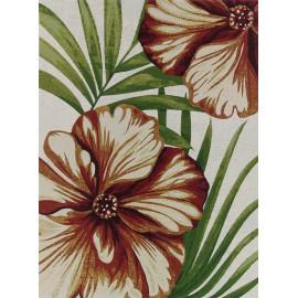 Tapis intérieur et extérieur floral multicolore Nature