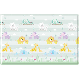 Tapis de jeu lavable en machine enfant multicolore Animals
