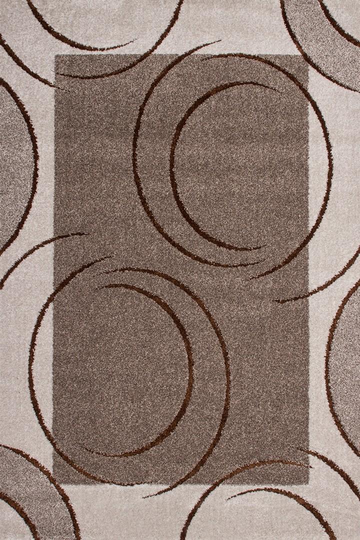 Tapis à courtes mèches avec effet 3D beige Minsk III