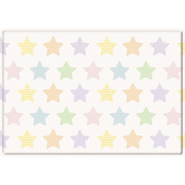 Tapis de jeu enfant multicolore lavable en machine Stars