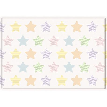 Tapis de jeu enfant multicolore lavable en machine Stars