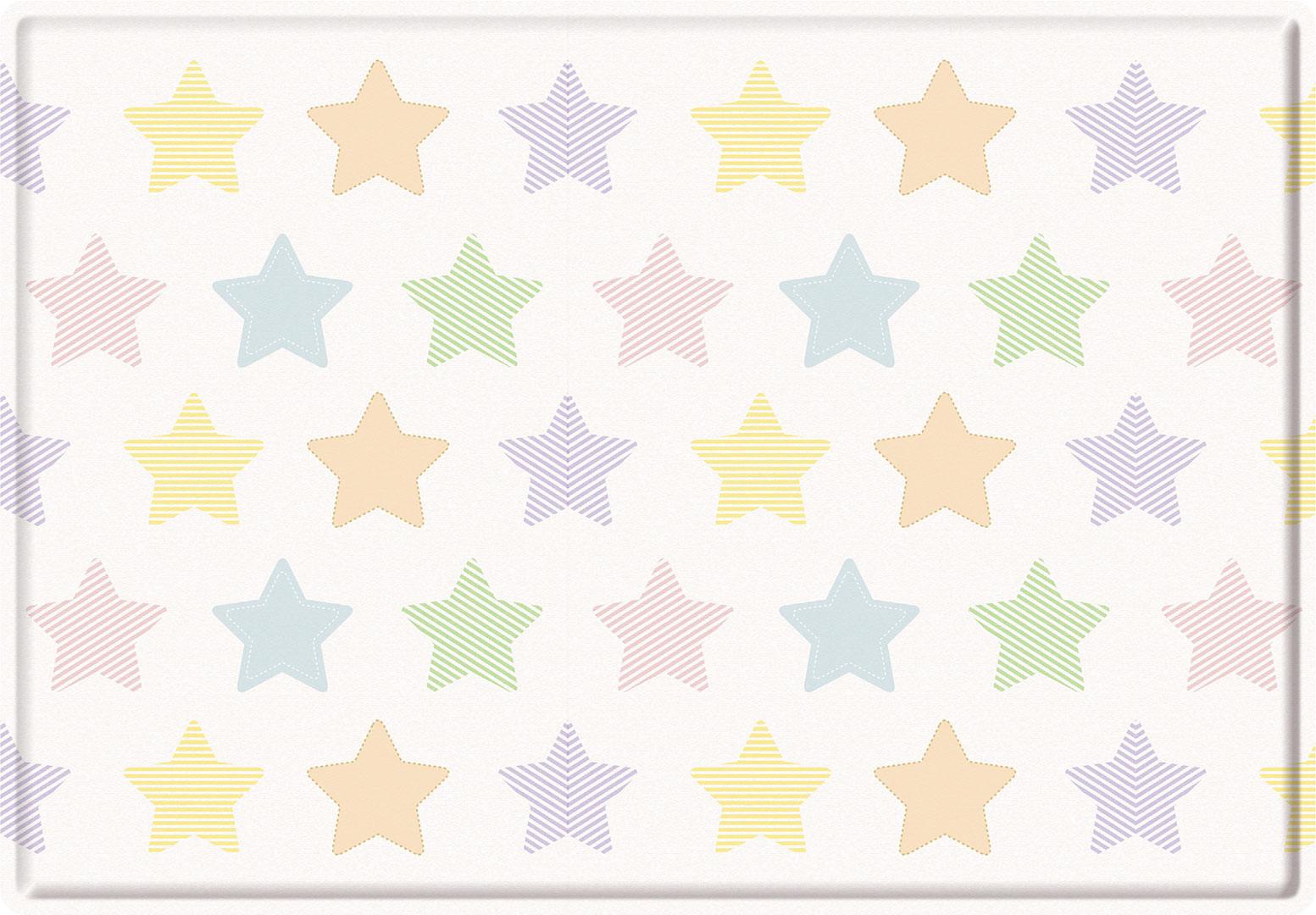 Tapis de jeu enfant multicolore Stars