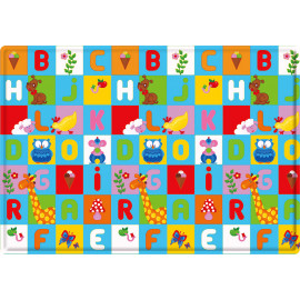 Tapis de jeu multicolore lavable en machine enfant Animal Pary