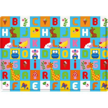 Tapis de jeu multicolore lavable en machine enfant Animal Pary