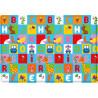 Tapis de jeu multicolore enfant Animal Pary