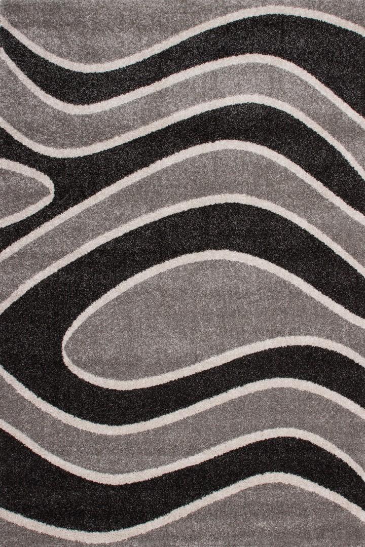 Tapis de salon design argenté Nimbus II
