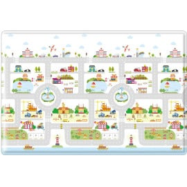 Tapis de jeu enfant lavable en machine multicolore Rush Hour