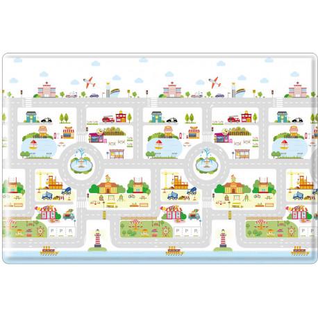 Tapis de jeu enfant lavable en machine multicolore Rush Hour