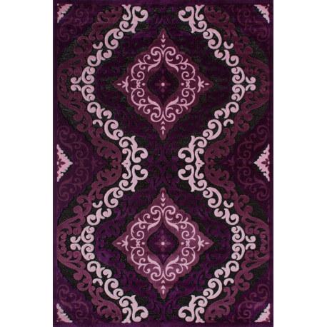 Tapis à motifs baroque violet de salon Jericho II