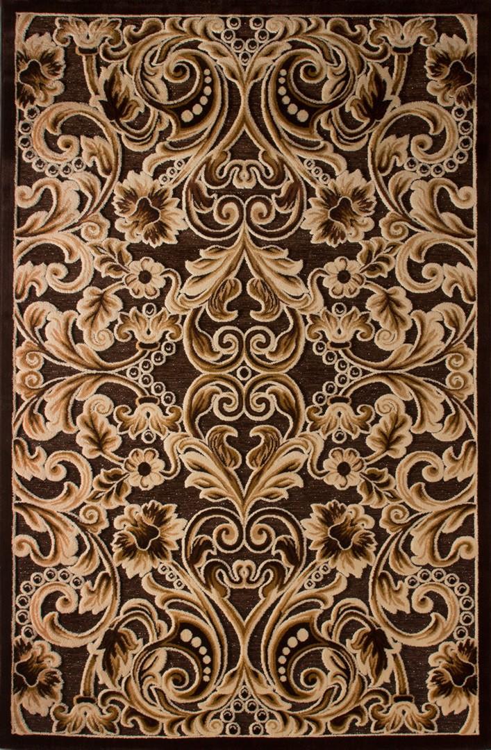 tapis contemporain aux velours fins marron jericho iii - Tapis Marron