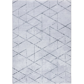 Tapis scandinave rectangle intérieur géométrique Labyrinth