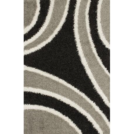 Tapis aux longs velours gris design Xylo III