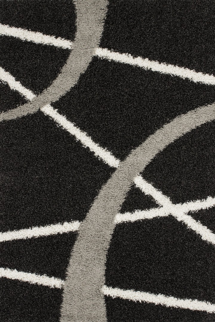 Tapis design gris d'intérieur Xylo IV