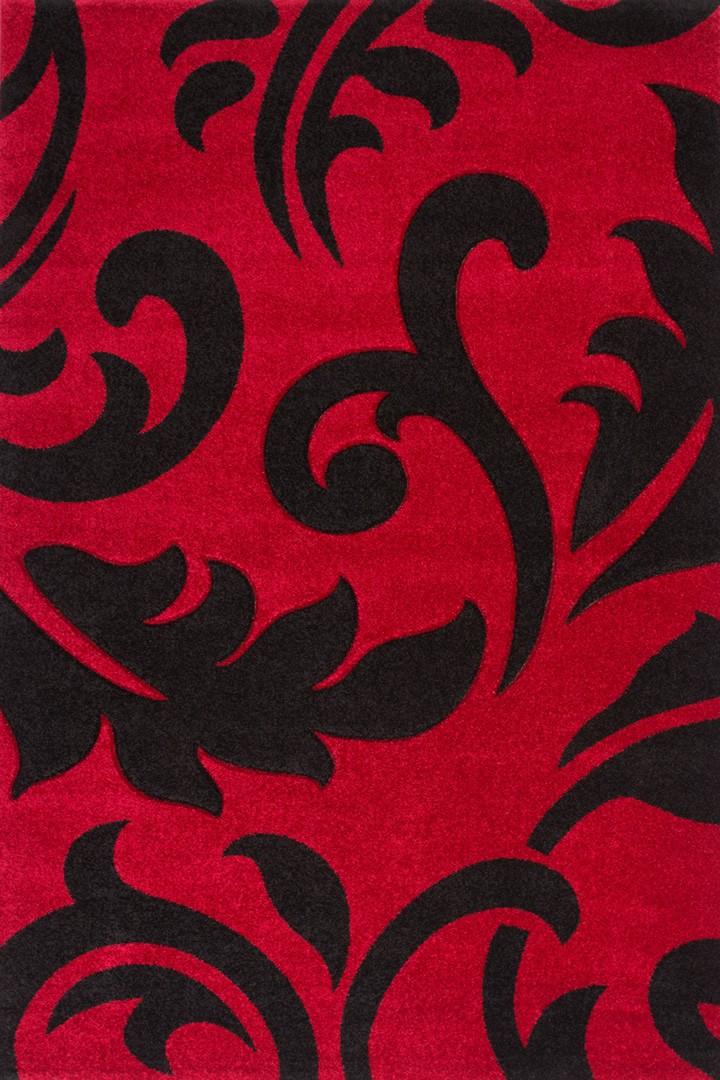 Tapis rectangulaire contemporain en polypropyl ne rouge - Tapis en polypropylene ...