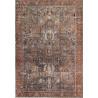 Tapis rayé vintage en polyester de salon Sari