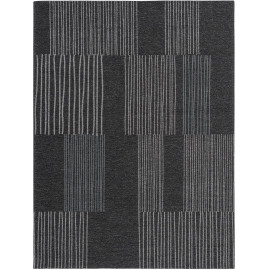Tapis rayé pour salon rectangle moderne Maline