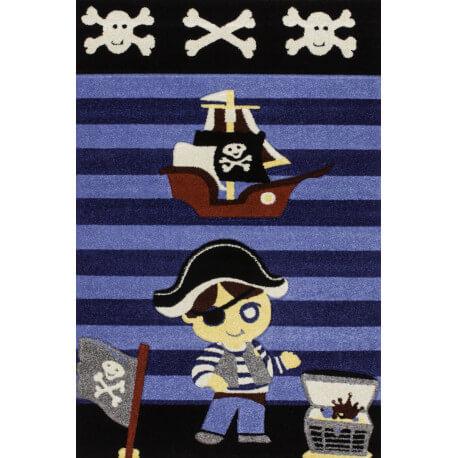 Tapis de chambre pour garçon bleu Pirate