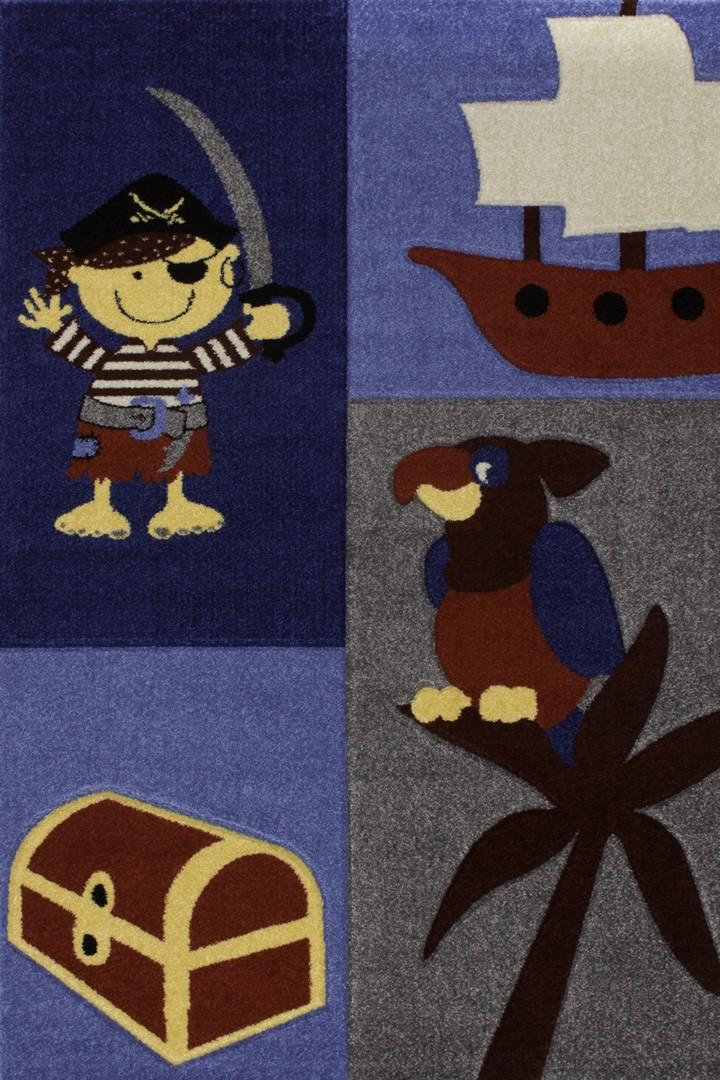 Tapis pour enfant multicolore Ship