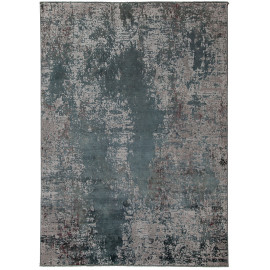 Tapis rectangle gris rayé vintage pour salon Bristol