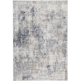 Tapis intérieur vintage rectangle rayé beige Oxford