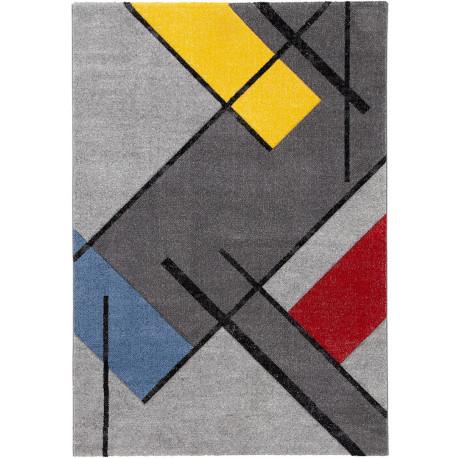 Tapis graphique design pour salon multicolore Bath