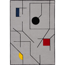 Tapis multicolore graphique moderne rectangle Liverpool