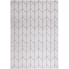 Tapis scandinave géométrique gris à courtes mèches Canterbury