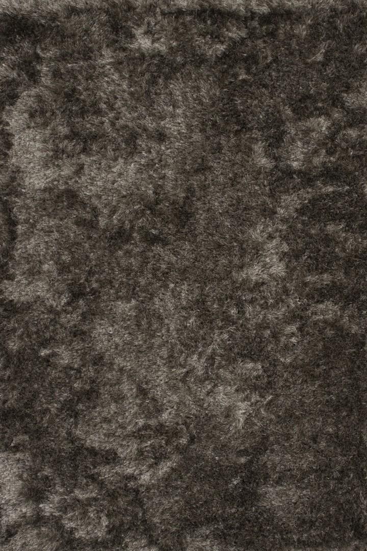 Tapis à longues mèches en polyester gris Luna Lalee