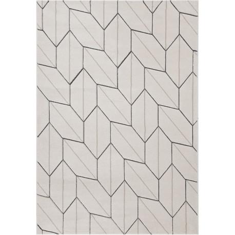 Tapis géométrique pour salon scandinave rectangle York