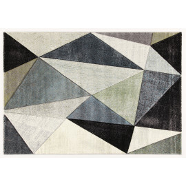 Tapis graphique design rectangle pour salon Winchester