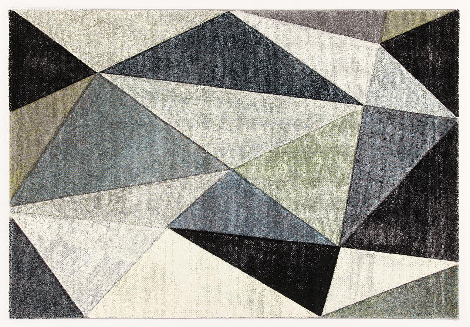 Tapis graphique design rectangle pour salon Winchester