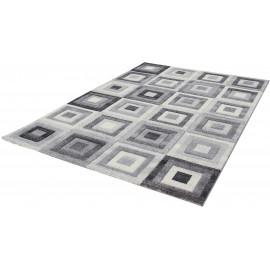 Tapis moderne cubique à courtes mèches rectangle Stratford