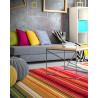 Tapis rayé multicolore design pour salon Sheffield