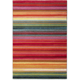 Tapis rayé multicolore design pour salon Sheffield