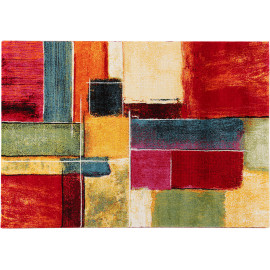 Tapis multicolore abstrait polypropylène design Campden