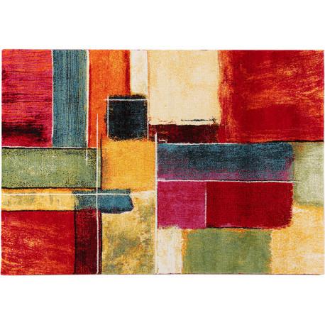 Tapis multicolore abstrait polypropylène design Campden