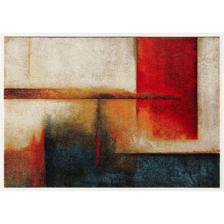 Tapis design multicolore abstrait polypropylène Whitby